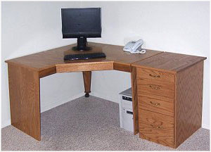 Corner Computer Desk Plans with Drawer