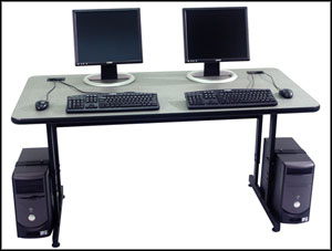 Paragon Two Person Workstation Desk