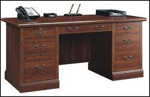 Sauder Cherry Executive Home Office Desks