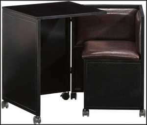 Stylish Black Hideaway Desk