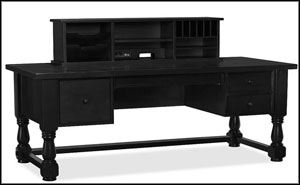 black elegant home office desks