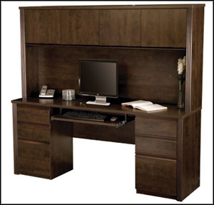 hampton bay tall computer desk