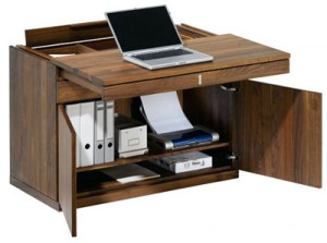 wood small laptop desk for small space