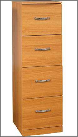 4 drawers wooden vertical filing cabinets