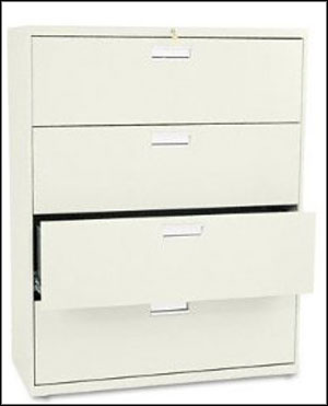HON 600 Series Metal 4 Drawer Lateral Filing Cabinets