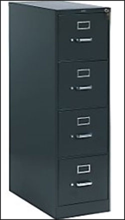 HON Vertical 4 Drawer Filing Cabinet