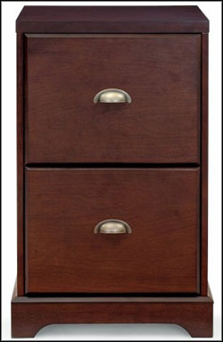 antique wood 2 drawer file cabinets