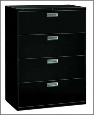 black modern 4 drawer filing cabinet