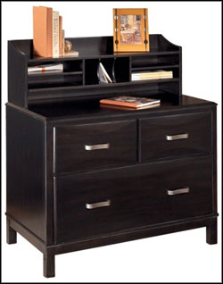 black wood file cabinets with hutch