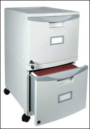 locking 2 drawer file cabinet