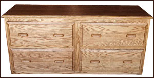 oak 4 drawer file cabinet