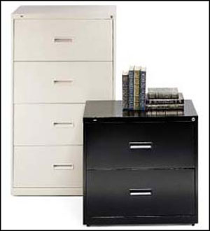 white black file cabinet