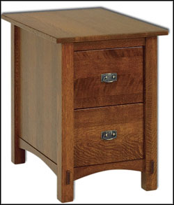 wooden 2 drawer file cabinet