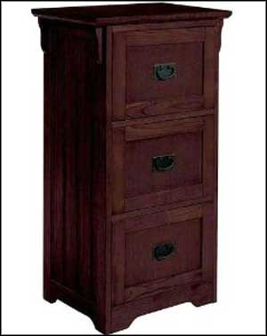 wooden 3 drawer file cabinet