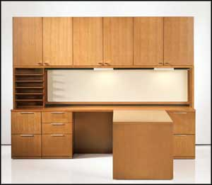 wooden table file cabinets home office