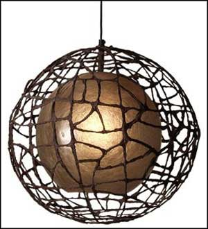 beaded hanging paper lamps