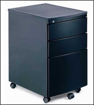 black mobile file cabinet
