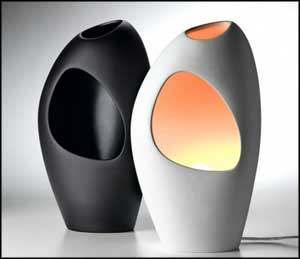 ceramic bedroom lamps black white