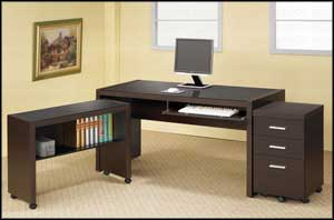 contemporary secretary computer desk