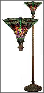 dragonfly tiffany floor lamps thorchiere style
