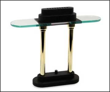 glass desk lamp