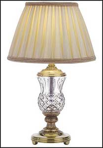 halogen crystal glass table lamp