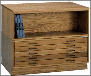 mayline flat file cabinet wood