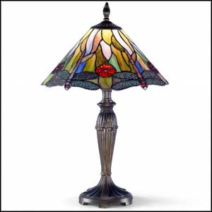 tiffany crystal buffet lamps