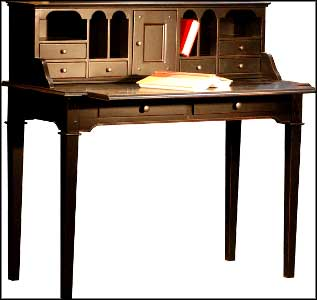 antique writing desk black