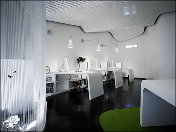 modern white office interior design