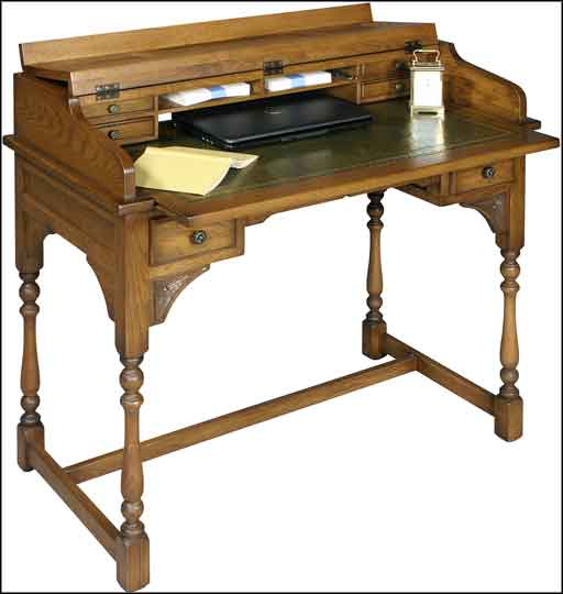 women oak writing desk
