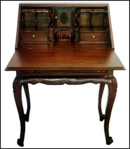 wood small secretary desk