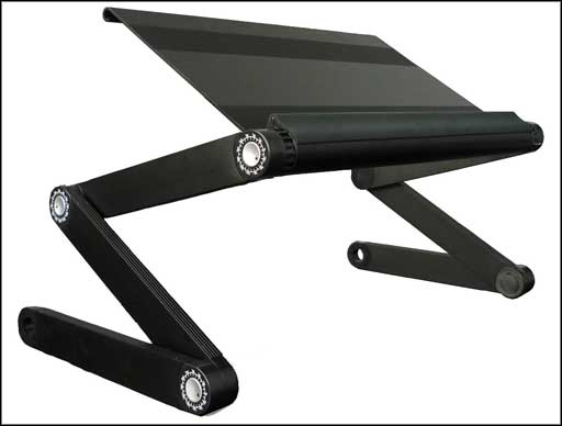 black stainless folding laptop table
