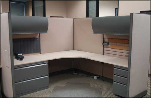 complete worker office cubile soft tone