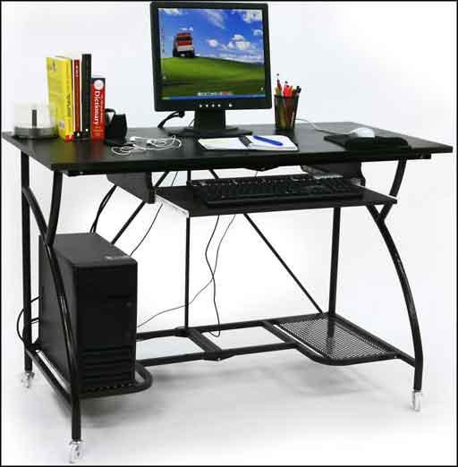 modern metal black computer table kids