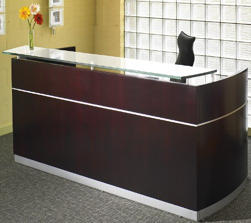 Napoli reception desk counter wooden veneer