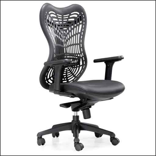 adjustable black webs office chair features PVC