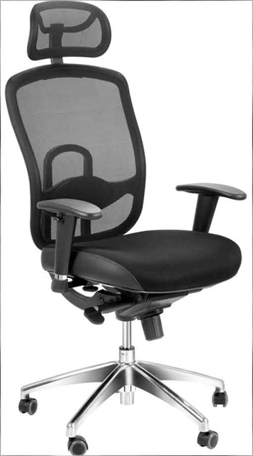 ergonomic mesh office chair head support