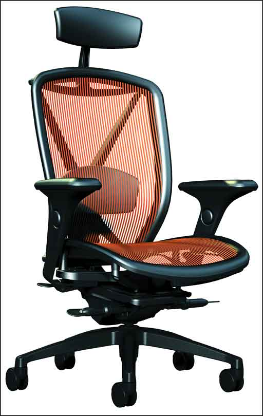 modern adjustable office chairs carbon mesh design