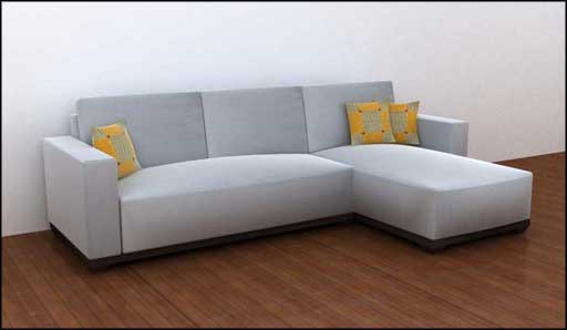white sectional sofa from gabi