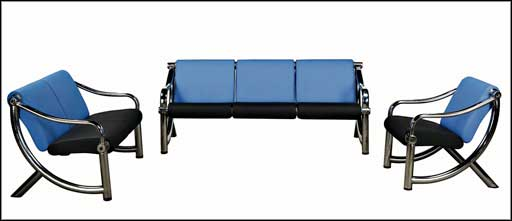 black blue airport leather sofas steel frame