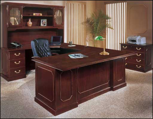elegant professional office furnishing brown