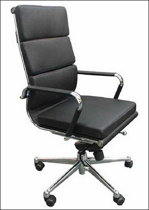 high back leather home office chairs with metal armrest