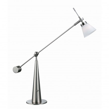 Admiral Halogen Desk Lamp Steel Polish