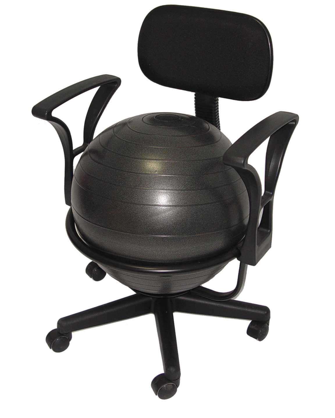 Aeromat Deluxe Black Ball Chair