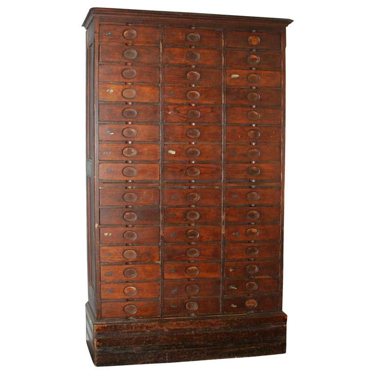 Antique Oak Filing Cabinets