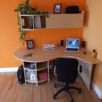 Baltic built in home office desk with wall storages