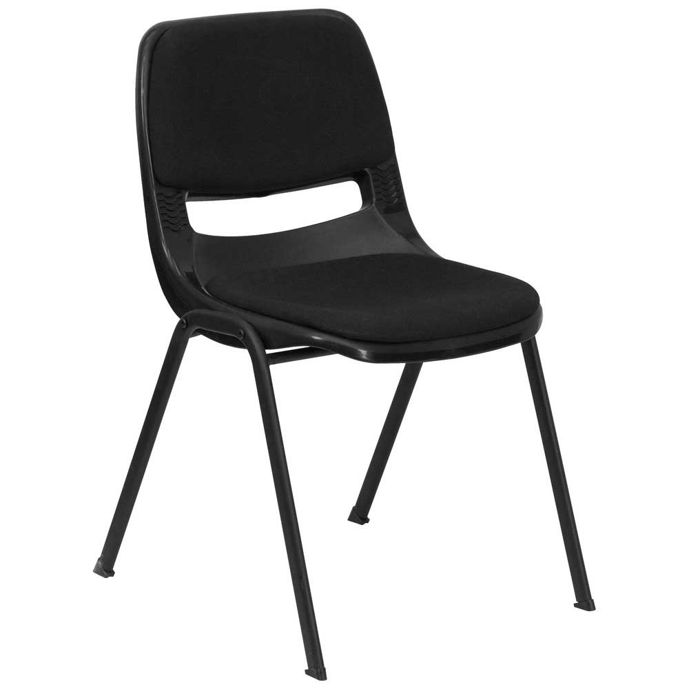 Black Ergonomic Shell Stack Desk Chairs