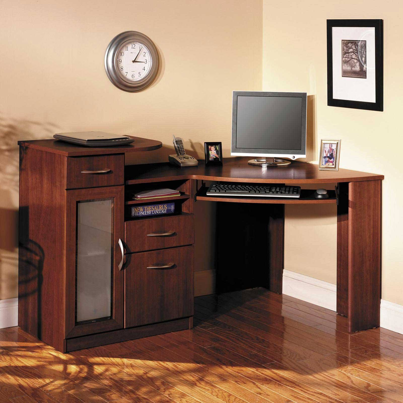 Bush Vantage Cherry Corner Computer Desk for Home