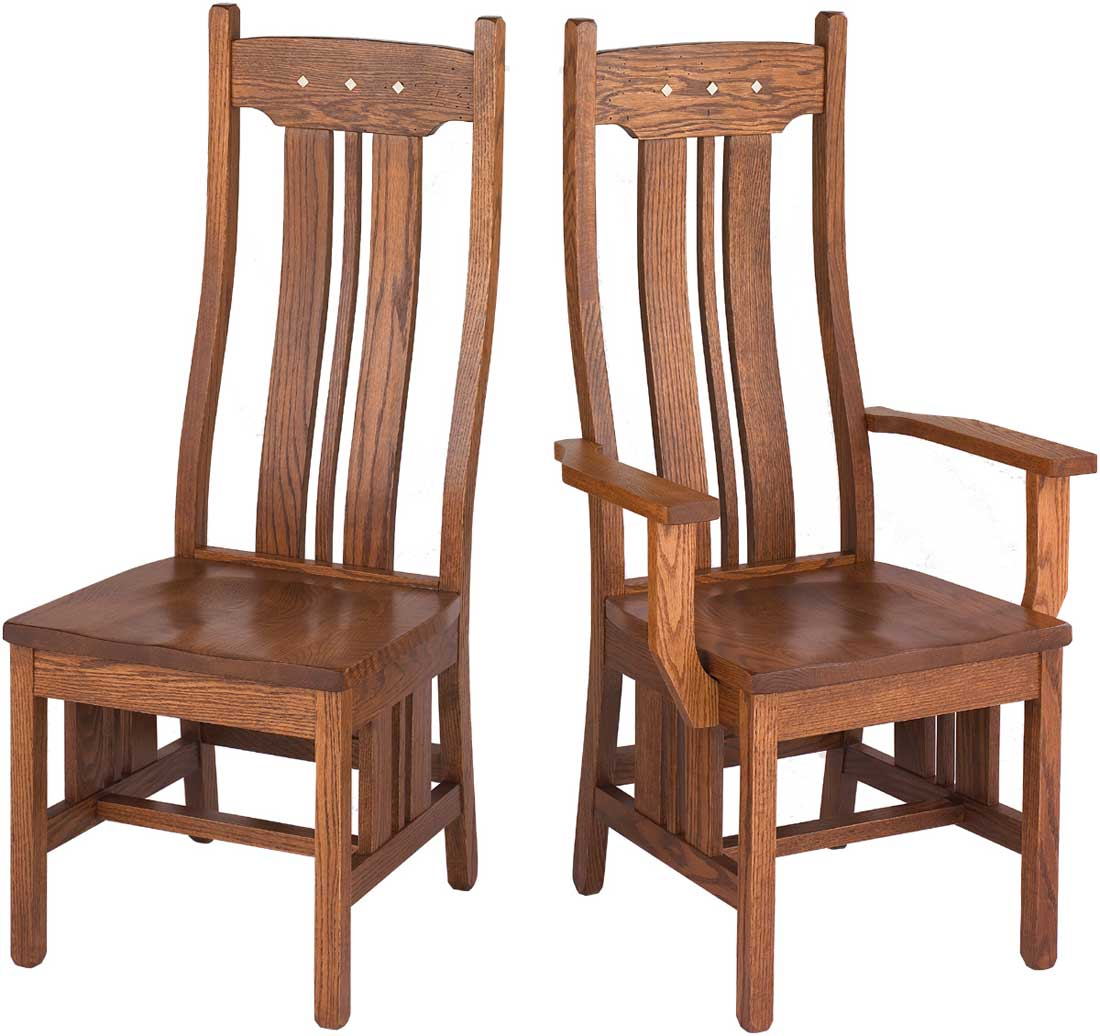 Colonial tall wood Office Chair